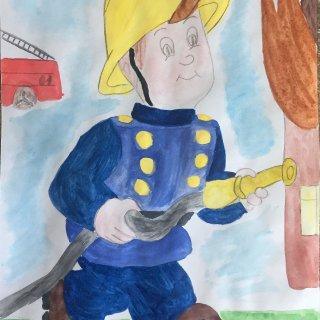 Смирнов Матвей 7 лет. Гимназия №5, 1 Г класс. Папа пожарный