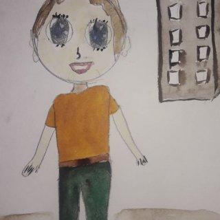 Филатова Ева, 7 лет. Папа строитель