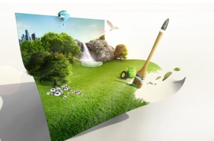 the-creative-green-living-picture-template-design-layered-2
